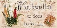 "When Flowers Bloom by Pam Britton - 16"" x 8"""