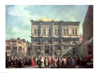 The Doge Visiting the Church and Scuola di San Rocco by Giovanni Antonio Canaletto - various sizes