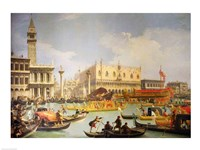 The Betrothal of the Venetian Doge to the Adriatic Sea Fine Art Print