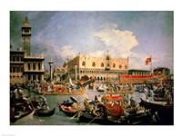 Return of the Bucintoro on Ascension Day Fine Art Print
