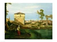 Capriccio with Motifs from Padua, Detail Fine Art Print