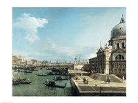 The Entrance to the Grand Canal and the church of Santa Maria della Salute, Venice Fine Art Print