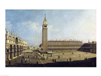 Piazza San Marco, Venice by Giovanni Antonio Canaletto - various sizes, FulcrumGallery.com brand