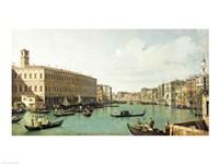 The Grand Canal from the Rialto Bridge Fine Art Print
