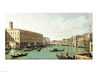 The Grand Canal from the Rialto Bridge Fine Art Print