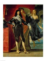Louis XIII Crowned by Victory Fine Art Print