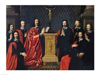 The Prevot des Marchands and the echevins of the city of Paris, 1648 Fine Art Print