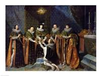 Louis XIII Receiving Henri d'Orleans Fine Art Print