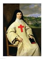 Mother Angelique Arnauld Abbess of Port-Royal, 1654 Fine Art Print