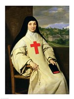 Mother Angelique Arnauld Abbess of Port-Royal, 1654 Fine Art Print