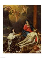 The Vow of Louis XIII King of France and Navarre, 1638 Fine Art Print