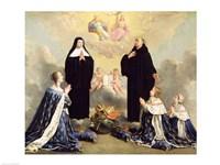 Anne of Austria and her Children at Prayer Fine Art Print