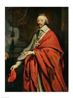 Portrait of Cardinal de Richelieu Fine Art Print