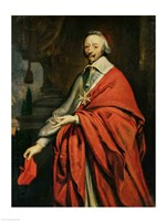 Portrait of Cardinal de Richelieu Fine Art Print