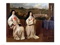 Two Nuns Fine Art Print