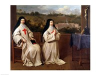 Two Nuns Fine Art Print
