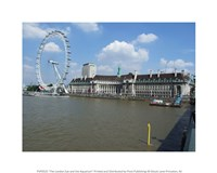 The London Eye and the Aquarium Fine Art Print