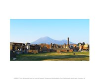 View of Vesuvius Over the Ruins of Popmeii Fine Art Print