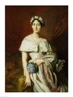 Mademoiselle Marie-Therese de Cabarrus, 1848 Fine Art Print