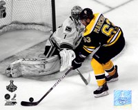 Brad Marchand Game 3 of the 2011 NHL Stanley Cup Finals Spotlight Action Fine Art Print