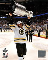 Nathan Horton with the Stanley Cup  Game 7 of the 2011 NHL Stanley Cup Finals(#50) Fine Art Print
