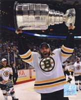 Patrice Bergeron with the Stanley Cup  Game 7 of the 2011 NHL Stanley Cup Finals(#45) Fine Art Print