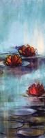 "Aqua Lotus II by Karen Lorena Parker - 12"" x 36"""