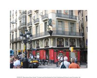 Barcelona Busy Street Fine Art Print
