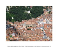 Brasov Black Church and City Square - various sizes