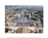 Vatican View From Above Fine Art Print