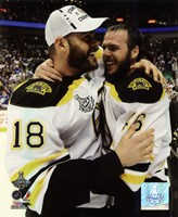 "David Krejci & Nathan Horton Game 7 of the 2011 NHL Stanley Cup Finals(#58) - 8"" x 10"", FulcrumGallery.com brand"