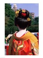Rear view of a geisha, Jidai Matsuri Festival, Tokyo, Japan - various sizes