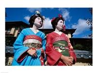 Two geishas, Kyoto, Honshu, Japan - various sizes - $29.99