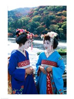 Geishas Conversing in Japanese - various sizes - $29.99