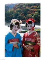 Geishas by a River - various sizes - $29.99