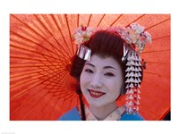 Geishas with Umbrellas