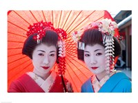 Geishas with Umbrellas - various sizes - $29.99