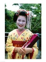 Smiling Japense Geisha - various sizes