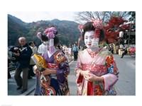 Geishas, Kyoto, Honshu, Japan - various sizes