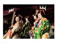 Group of geishas, Kyoto, Honshu, Japan - various sizes