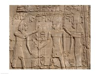 Ramses II in front of Amun and Sethi I, Luxor Temple, Aswan, Egypt Fine Art Print