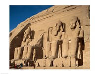 Temple of Ramses II, Abu Simbel, Egypt Fine Art Print