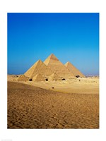 Giza Pyramids, Giza, Egypt (far away) Fine Art Print