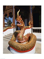 Snake Statue, Naga Temple, Chiang Mai Province, Thailand - various sizes