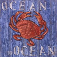 """Coastal USA Red Crab by Paul Brent - 12"""" x 12"""" - $9.99"""