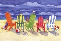 Brighton Chairs Framed Print