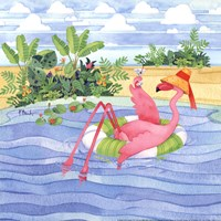Martini Float Flamingo Fine Art Print