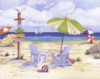 Beachside Chairs Fine Art Print