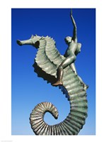 Sea horse statue, Puerto Vallarta, Mexico Fine Art Print