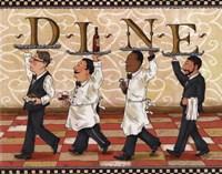 Waiters Dine Framed Print